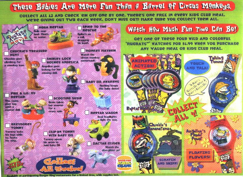 Burger King Rugrats Watches Nostalgia