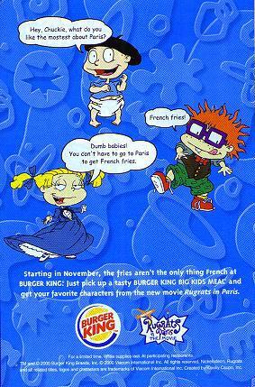 Quot Rugrats In Paris Quot At Burger King November Amp December 2000